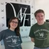 WFU Press t-shirts in Willow (left) and Hemp (right)