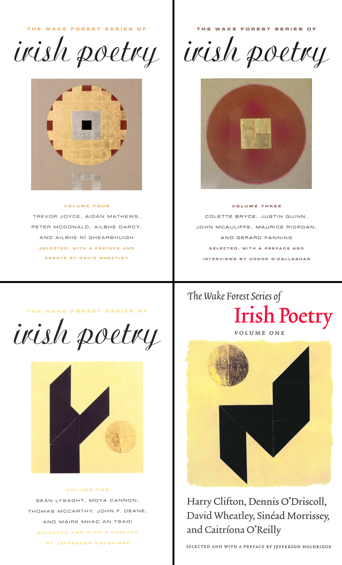 The Wake Forest Series of Irish Poetry Volumes I-IV