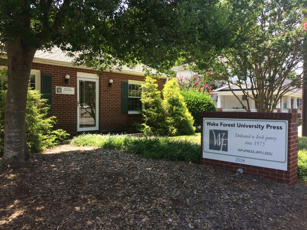 Wake Forest University Press, new office at 2518 Reynolda Rd.